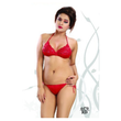Flaunty, Hot and Naughty Red Satin-net Strings Bikini Sets-4470-Red