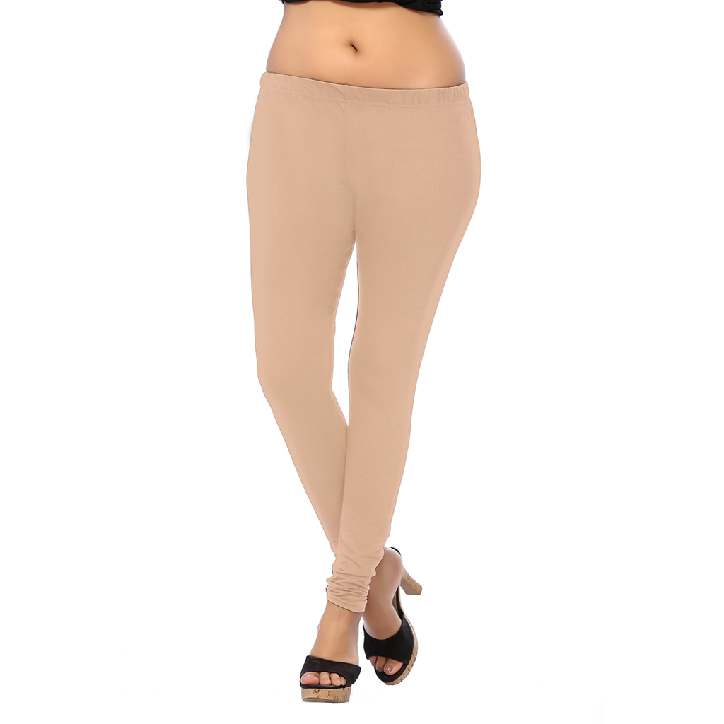 Pretty and Attractive Color Tan ANMOL COTTON  Length Leggings for Anytime Wear