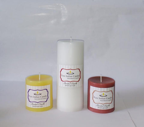 Handmade Triple Scented Pillar Candle PIC036