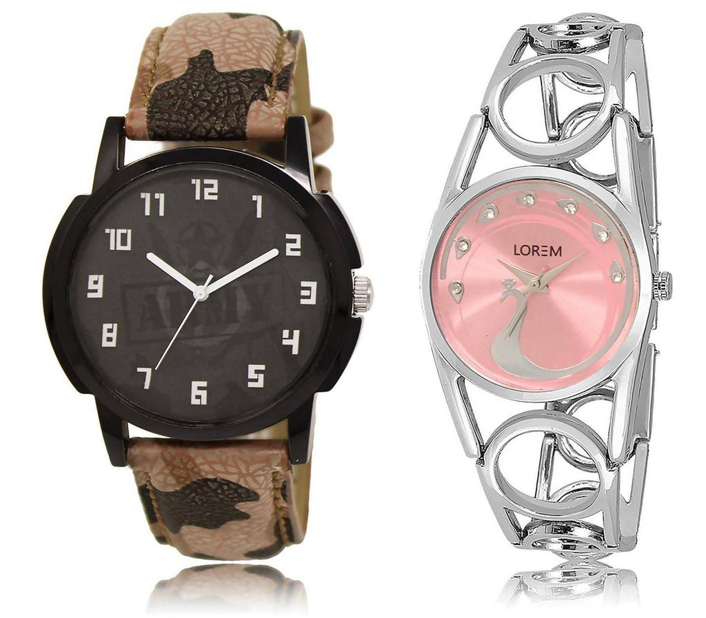 LOREM LR3-233 COMBO Watch - For Men & Women