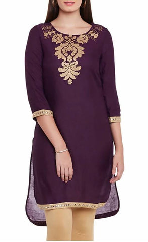 Triyaa High Low Printed Kurta