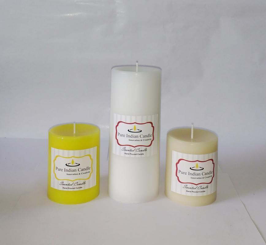 Handmade Triple Scented Pillar Candle PIC0321