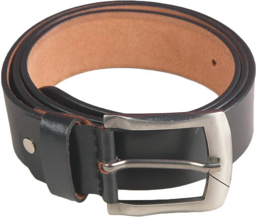 NUKAICHAU Men Formal Black Genuine Leather Belt