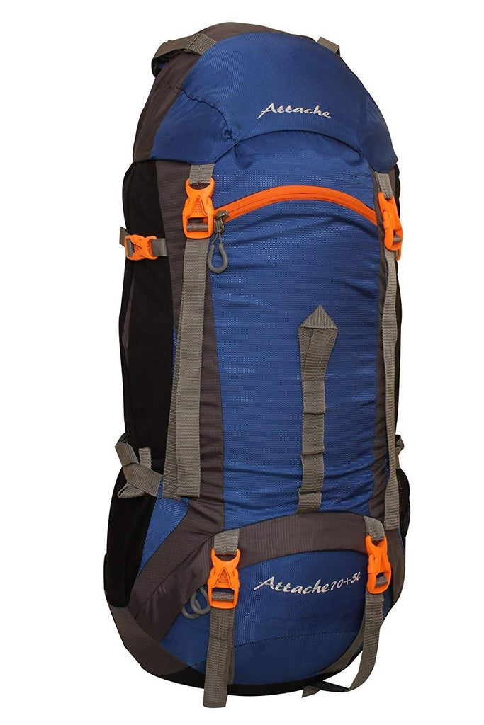 Attache 1026R Rucksack, Hiking Backpack 75Lts (Royal Blue) With Rain Cover