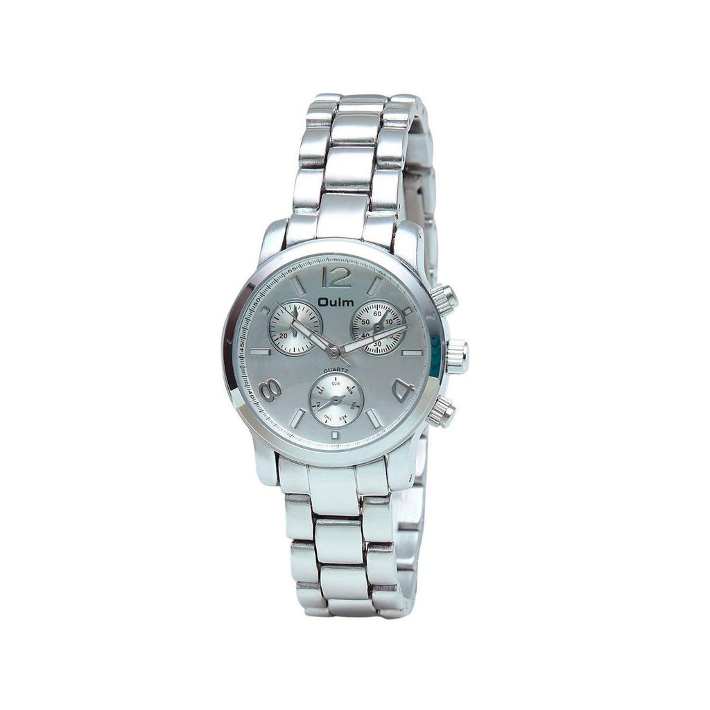 Oulm HT3256WH Analog Silver Dial Alloy Strap Wrist Watch / Casual Watch - For Women