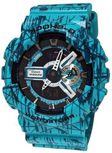 Casio - G-Shock - Slash Print Series - Blue Analog Digital Resin G-Shock watch - GA110SL-3A