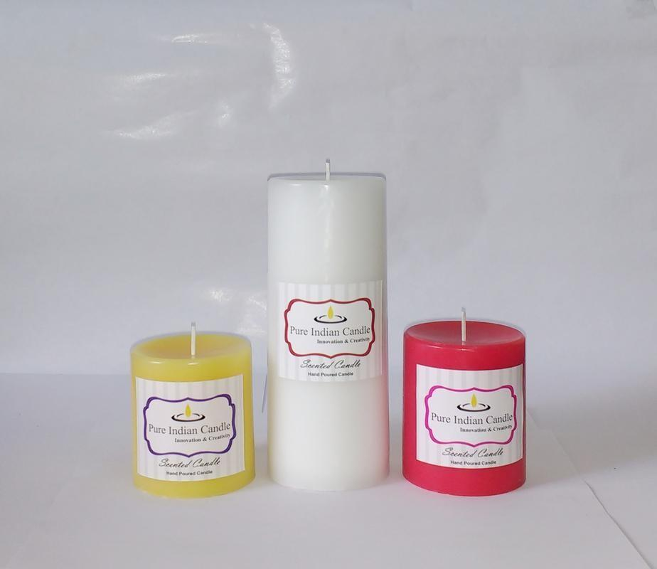 Handmade Triple Scented Pillar Candle PIC037