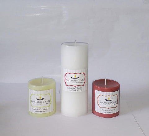 Handmade Triple Scented Pillar Candle PIC035