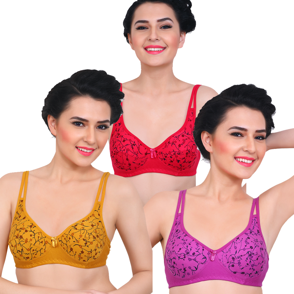 Enticing Lift Strappy Unlined  Bra (Pack Of 3)