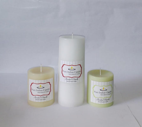 Handmade Triple Scented Pillar Candle PIC0315