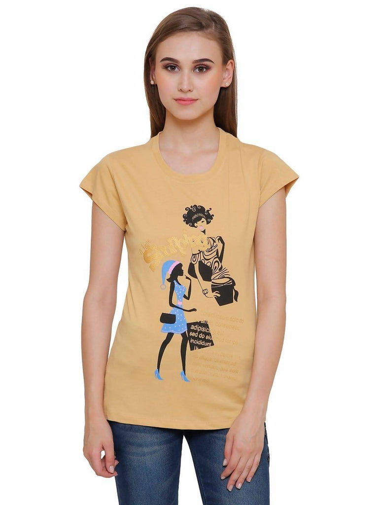 Casual Printed Women T-Shirt