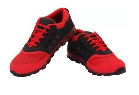 Xylus Footwear New Premium Red and Black Men's Sports Shoes