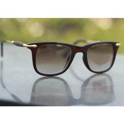Brown 3D Square Sunglasses For Men