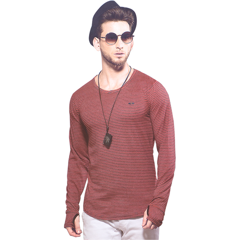 GripsonV540 Red Mens Round Neck Full Sleeves Tshirts