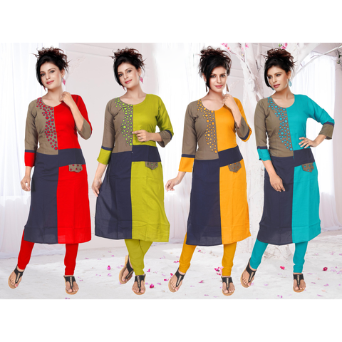 Superior Quality Rayon In Combination With Newest Color And Hand Embroidery-9516