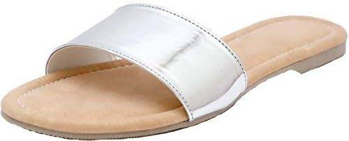 Foot Wagon Beige Flats|Silver| Silver Sandals | Ladies Sandal |Beige Sandal |Women Flats | Ladies Slippers |Girls Slippers | Beige |Flats |Broad Strap |Single Strap