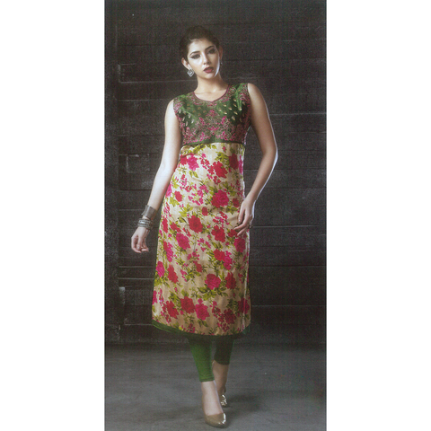 Classy, Enticing look in Bhagalpuri Silk Long Kurtis