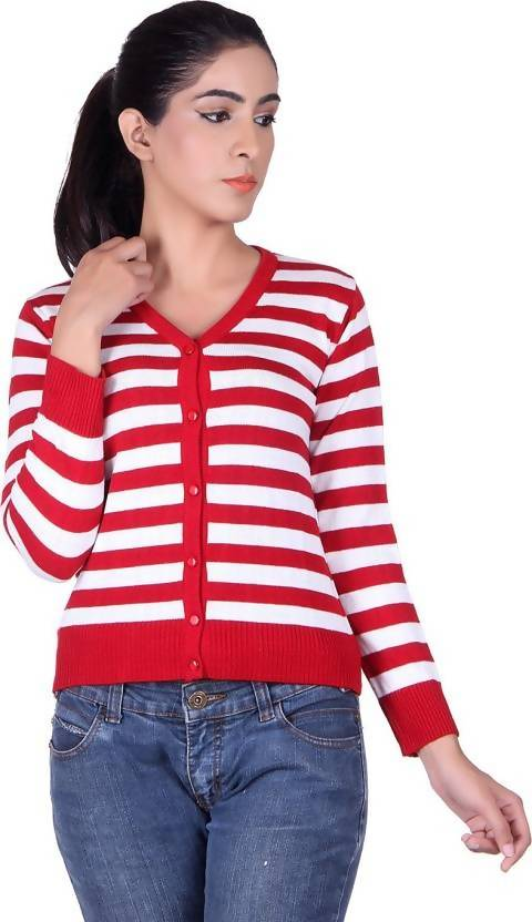 Ogarti Women's Button Striped Cardigan