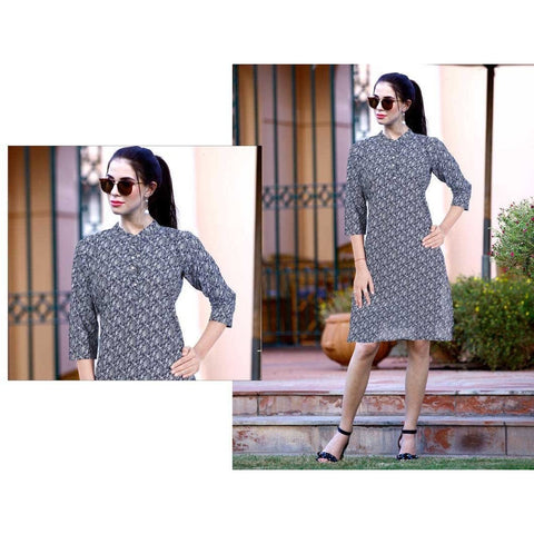 Fashionable Off Beat Denim Kurti ,Style Statement Make You Look Different