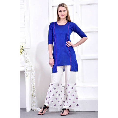 Avashya Paradise Royal Blue Kurti with Palazzo