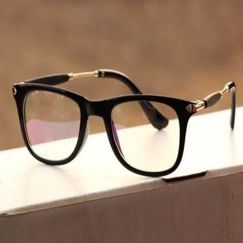 Sunglasses Clear Glass Square Frame Goggles for Men