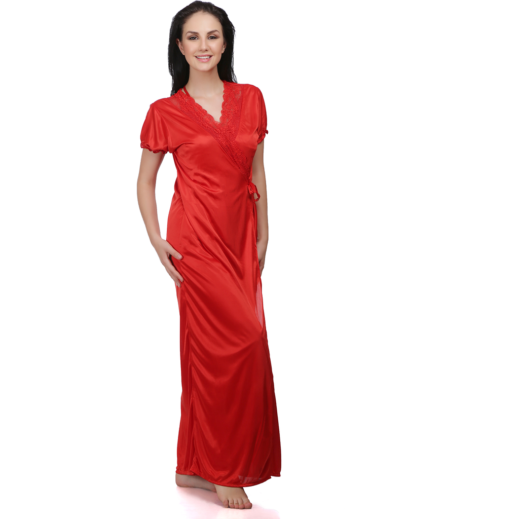 Elegance at the first wear Satin 6 Pieces Night Gowns