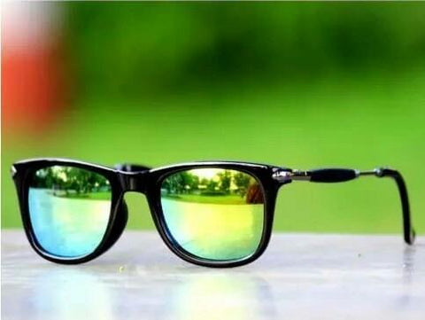 Green Mercury Square  Frame Sunglasses For Men