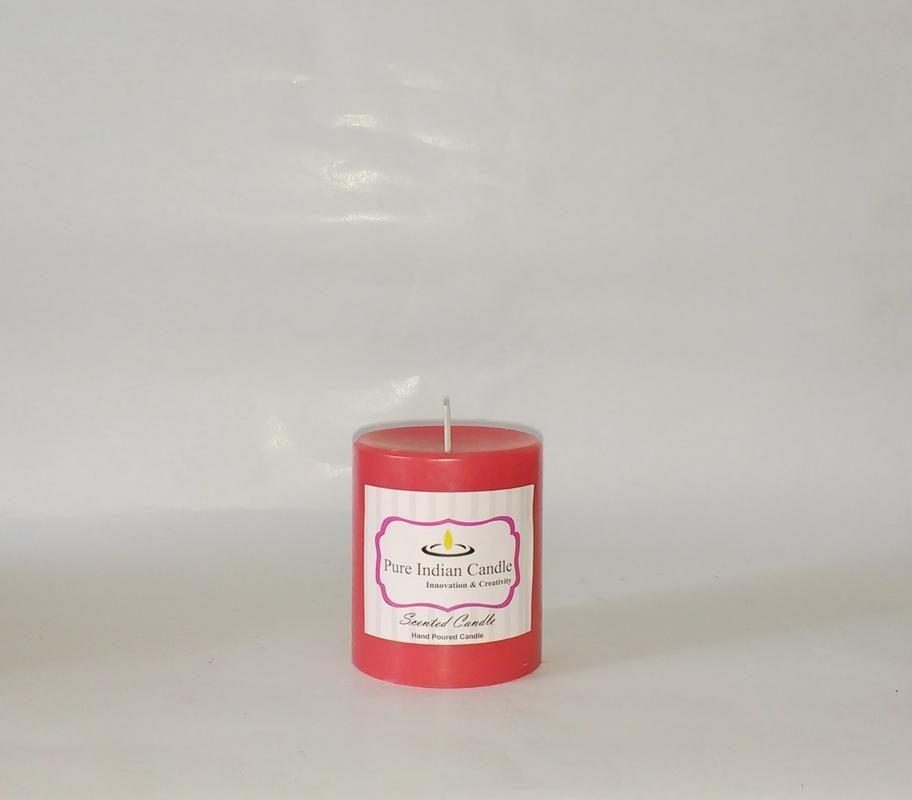 Apple Cinnamon and Vanilla Handmade Scented Pillar Candle PIC0010