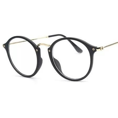 Round Frame Clear Glass Fancy Frame For Men