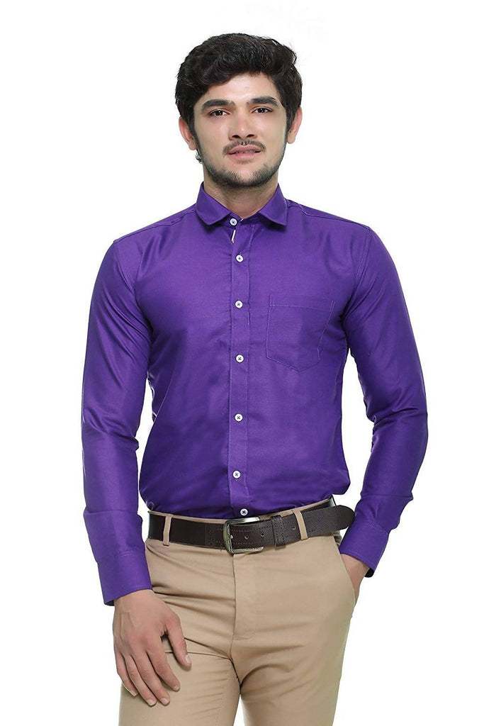 Nimegh Royal Blue Colored Cotton Casual Solid Shirt For Men