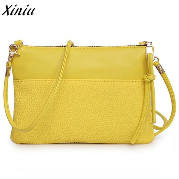 Bolsas 2017 Women Fashion Crossbody Handbag Shoulder bags Large Tote Ladies hand bags Purse Yellow Bolsas de ombro