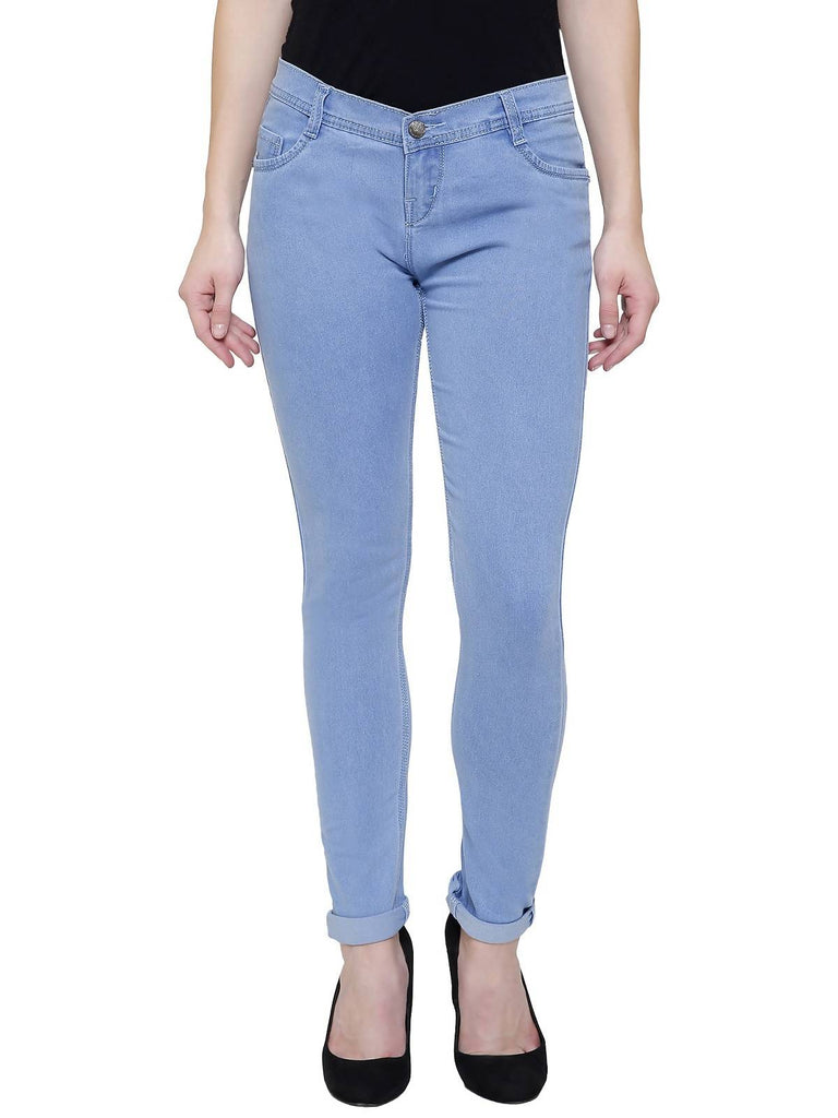 Govil, Women Skinny Fit, Blue, Silky Denim Jeans
