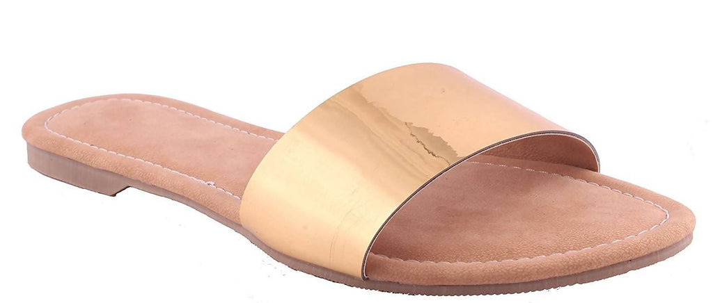 Foot wagon Golden Strap |Flats | Ladies Slippers |Girls Slippers