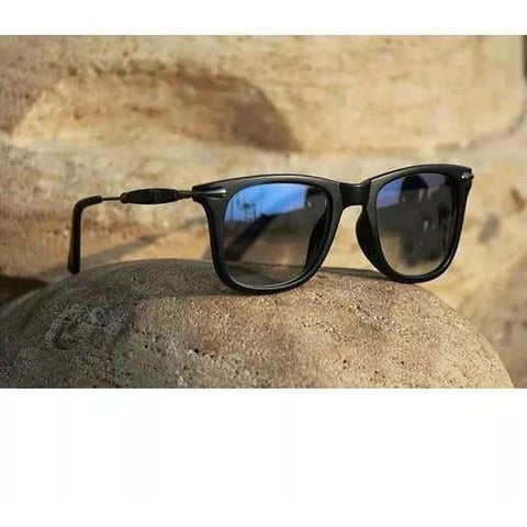 Sunglasses Blue 3D Square Goggles For Men