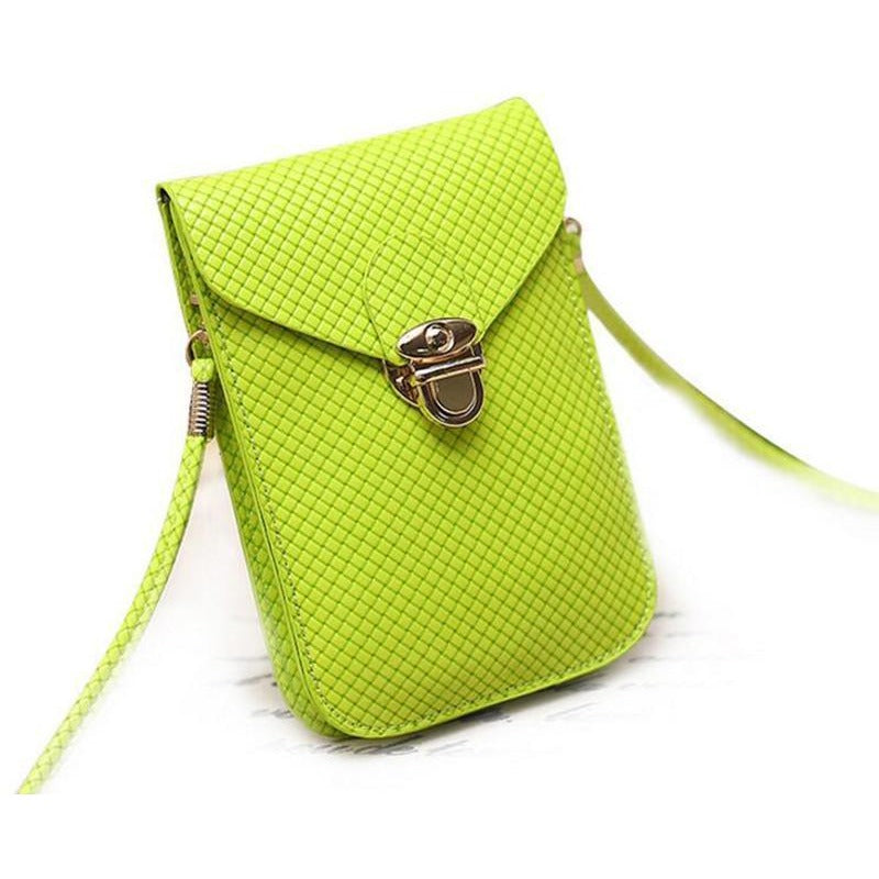 Green Cute Small Japanese Leather Women Messenger Bags Korean Phone Hand Bag Purse