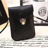 Black Cute Small Japanese Leather Women Messenger Bags Korean Phone Hand Bag Purse