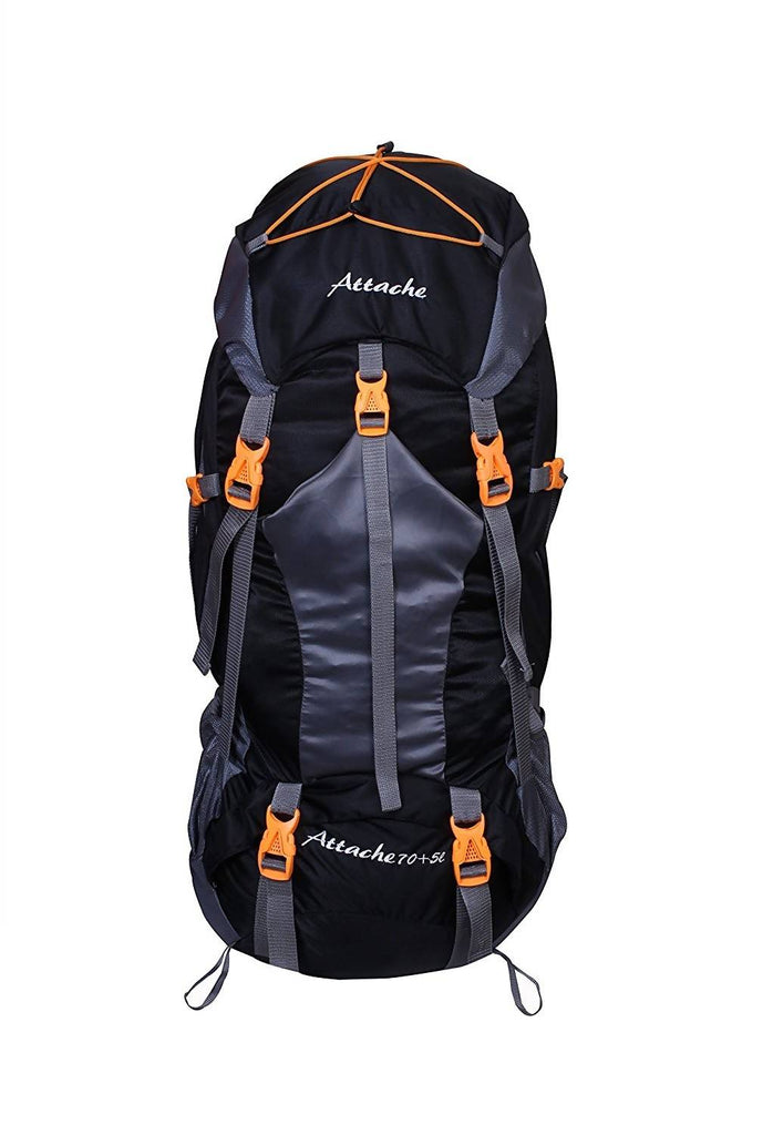Attache 1025R Rucksack, Hiking Backpack 75Lts (Black) With Rain Cover