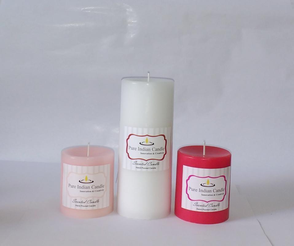 Handmade Triple Scented Pillar Candle PIC0312