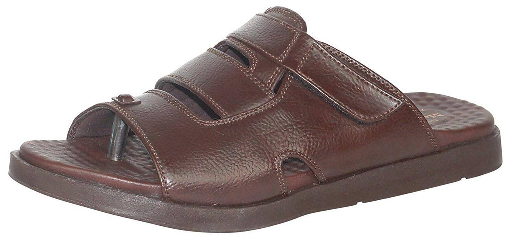 Medifeet Men Flux-Fur Brown Slip-On_MF-60-BROWN