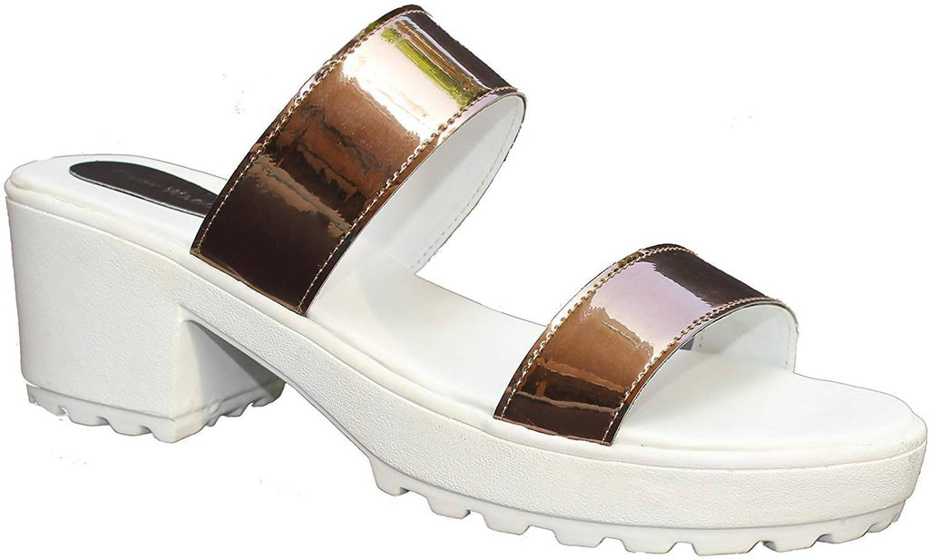 Ladies Sandal |White Sandal | White |Women Flats | Ladies Slippers |Girls Slippers | Copper| Flats | Slipper for Women
