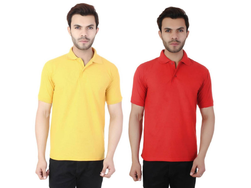 TAJ-POLO-2CM-YLW-RED-M