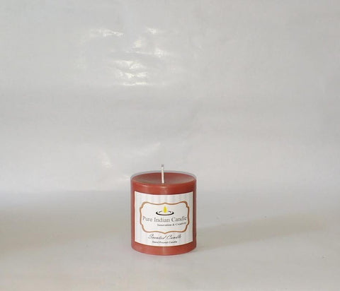 Southern Pecan and Chocolate Handmade Scented Pillar Candle PIC0016