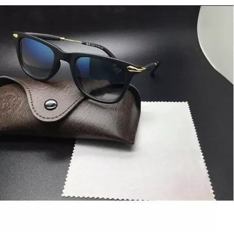Blue 3D Square Sunglasses For Men