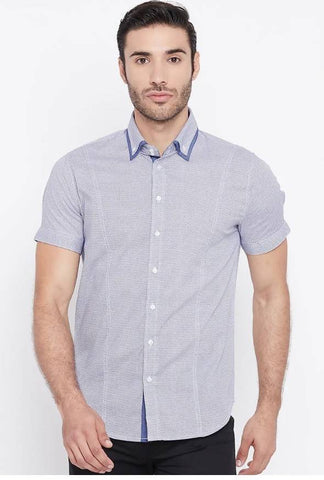 Mixtakes Blue Cotton Casual Shirt