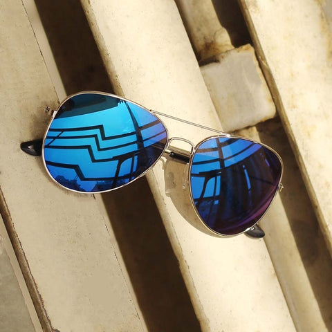 Blue Mercury Aviator Sunglasses For Men
