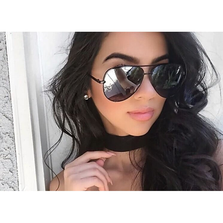 Sunglasses Silver Aviator Goggles For Women