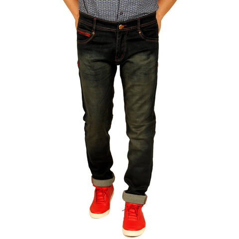 Xcess Denim Mud Shady Slim-Fit Jeans for Party Wear