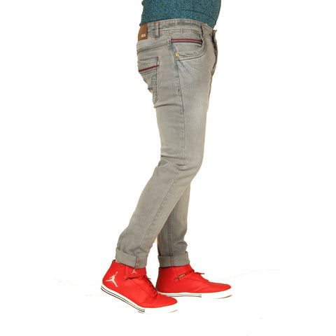 Xcess Cement Shady Denim Slim-fit Jeans for Casual Wear