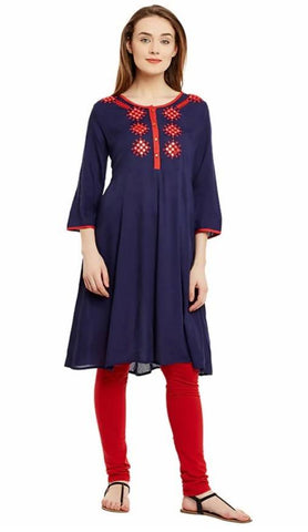 Triyaa Mirror Work Anarkali Kurta