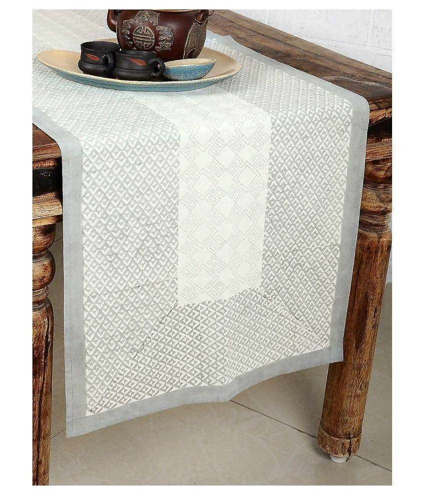Myyra White Cotton Table Runner